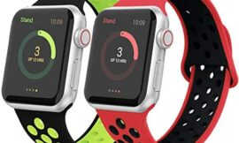GZ GZHISY Pack 2 Sport Band Compatible with Apple Watch 38mm 40mm 42mm 44mm, Women Man Soft Silicone Wristband Replacement Strap for iWatch Series 5/4/3/2/1
