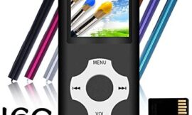 Tomameri – Portable MP3 / MP4 Player with Rhombic Button, Including a 16 GB Micro SD Card and Support Up to 64GB, Compact Music, Video Player, Photo Viewer Supported -Black-with-White