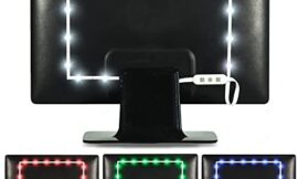 Luminoodle Color Bias Lighting – 15 Color LED Strip Lights with Remote – USB Powered TV Light, RGB Computer Monitor Backlight – Small (