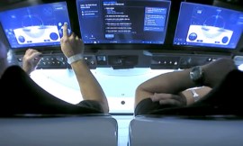 Watch NASA astronauts fly SpaceX's Crew Dragon using touchscreens