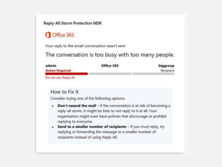 Microsoft adds protection against Reply-All email storms in Office 365