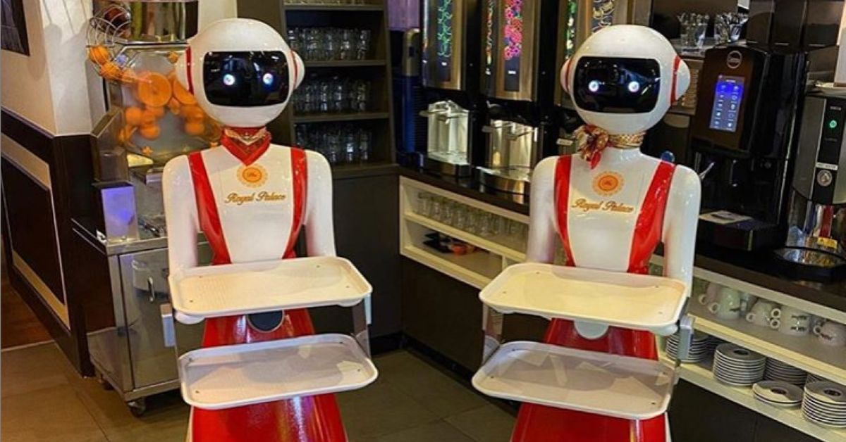 A restaurant in the Netherlands is using creepy robot waiters for social distancing