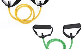 KOOMOVER Fitness Resistance Bands Gym Sport Band Workout Elastic Bands Expander Pull Rope Tubes Exercise Equipment for Home Yoga Pilates