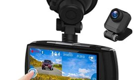 Z-Edge Dash Cam Front and Rear 4.0″ Touch Screen Dual Dash Cam FHD 1080P with Night Mode, 32GB Card Included,155 Degree Wide Angle, WDR, G-Sensor, Loop Recording, Support 256GB Max