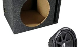 ASC Package Single 12″ Kicker Sub Box Vented Port Subwoofer Enclosure C12 Comp 300 Watts Peak