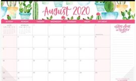 bloom daily planners 2020-2021 Academic Year Hanging Wall/Desk Monthly Calendar Pad (August 2020 – July 2021) – 11″ x 17″ – Seasonal Designs