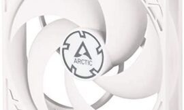 ARCTIC P12 PWM – 120 mm Case Fan with PWM, Pressure-optimised, Very Quiet Motor, Computer, Fan Speed: 200–1800 RPM – White/White