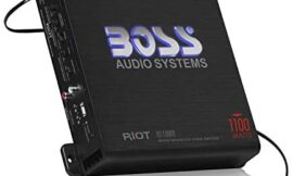 BOSS Audio Systems R1100M Monoblock Car Amplifier – 1100 Watts Max Power, 2/4 Ohm Stable, Class A/B, Mosfet Power Supply, Remote Subwoofer Control