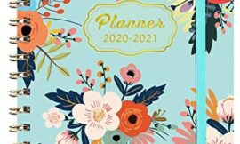 2020-2021 Planner – Academic Weekly & Monthly Planner with Tabs, 6.3″ x 8.4″, July 2020 – June 2021, Hardcover with Back Pocket + Thick Paper + Banded, Twin-Wire Binding – Blue Floral