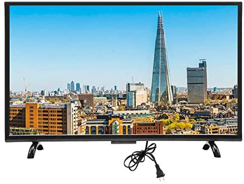 Nannday Smart Curved TV, 43inch Large Screen Ultra HD HDMI 3000R Curvature TVs 1920×1200 with Intelligent Voice Function 110V(110V US)