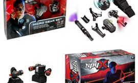 SpyX / Micro Gear Set + Lazer Trap Alarm – 4 Must-Have Spy Tools Attached to an Adjustable Belt + Invisible LED Beam Barrier & Alarm! Jr Spy Fan Favorite & Perfect for Your Spy Gear Collection!