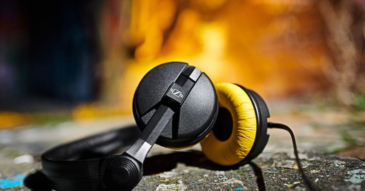 Sennheiser's limited edition HD 25 headphones have a pop of retro color