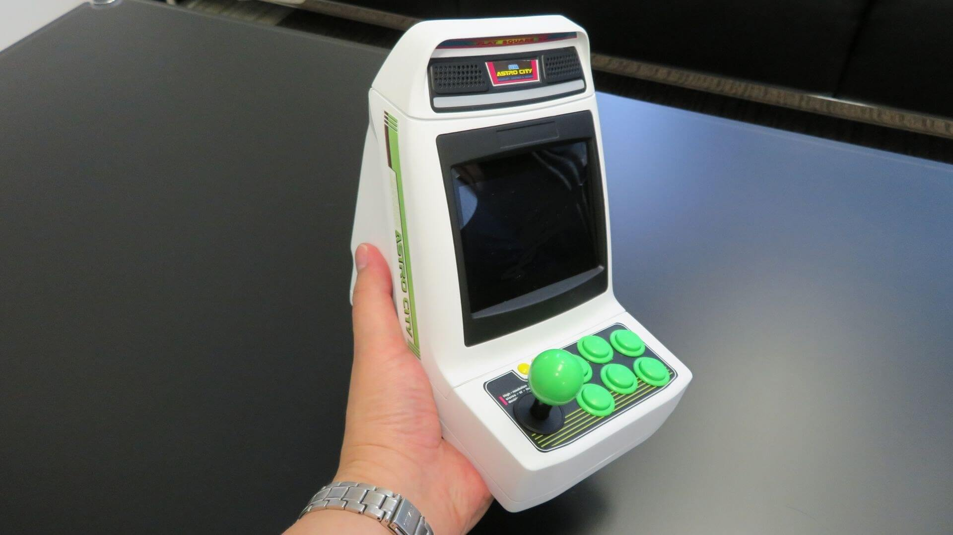 The Astro City Arcade Mini puts a tiny arcade cabinet in the palm of your hand