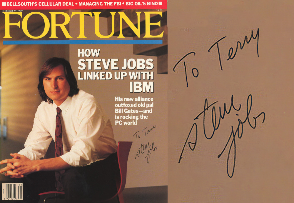 Steve Jobs autographed magazine cover sells for $16,638 at auction