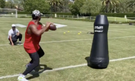 Is Russell Wilson a robot? No, but video shows the Seattle Seahawks QB working out with one