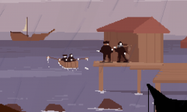 Olija is a 2D action game about a magic harpoon