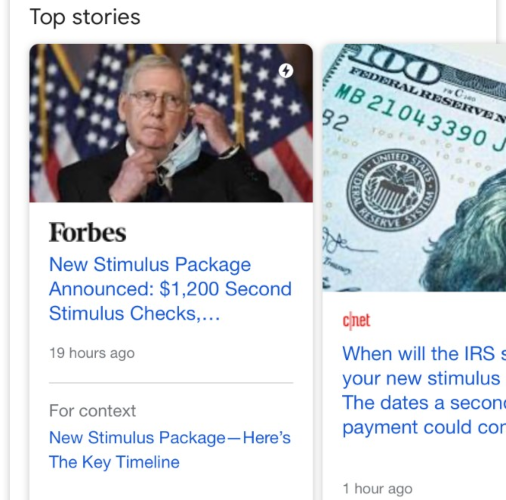 """Google Tests a New """"For Context"""" Feature in Top Stories"""