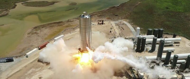 SpaceX completes static fire of Starship prototype, will hop next