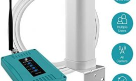 5 Bands Cell Phone Signal Booster for Home Office Use – Multiple Band Cellular Repeater Kit Boosts Verizon AT&T T-Mobile 3G 4G LTE Voice and Data – Support Multi Devices.