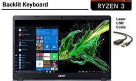 2020 Newest Acer Aspire 5 15.6″ FHD 1080P Laptop Computer| AMD Ryzen 3 3200U up to 3.5 GHz(Beat i5-7200u)| 8GB RAM| 128GB SSD+500GB HDD| Backlit KB| WiFi| Bluetooth| HDMI| Windows 10| Laser USB Cable