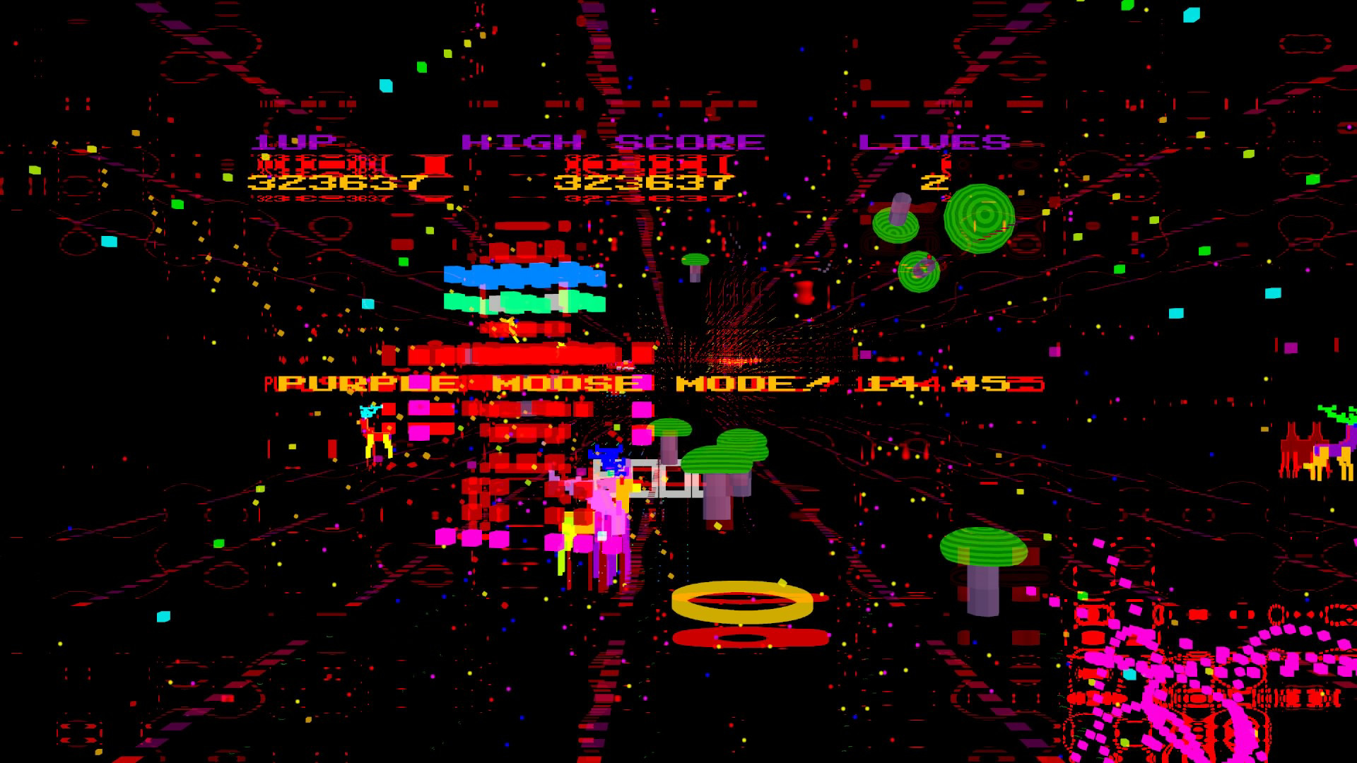 Psychedelic trance shooter Moose Life, from Jeff Minter, comes this month