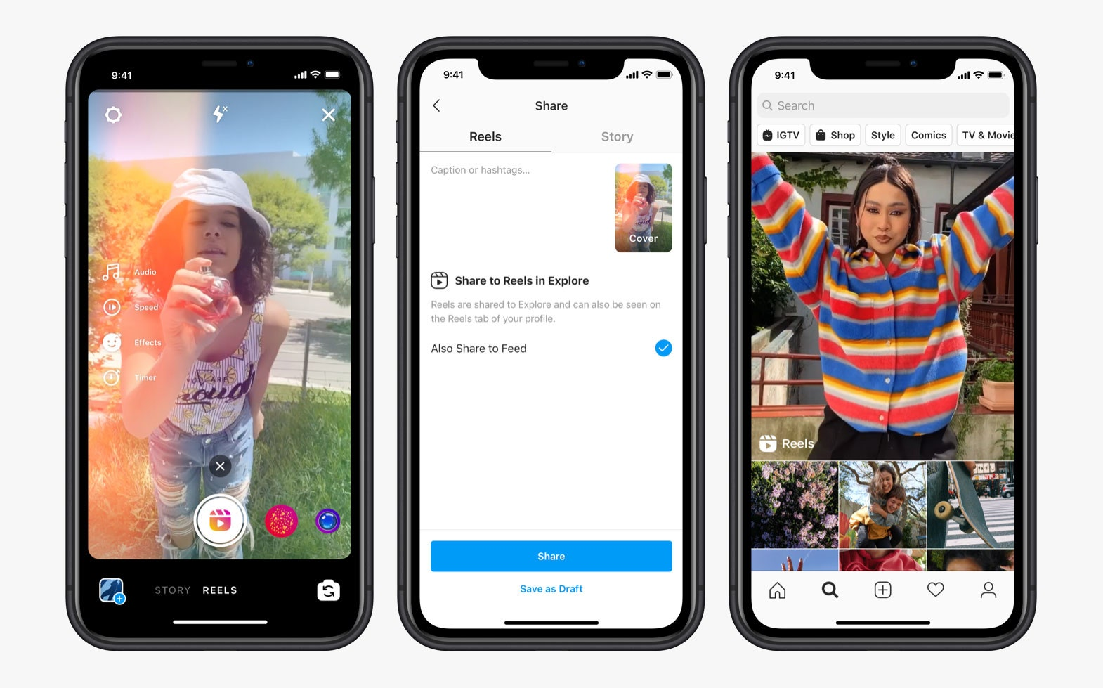 Instagram Launches Reels, Its TikTok Clone, in the US