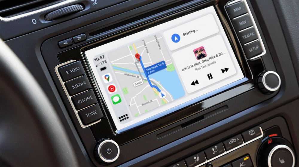 Read more about the article Google Maps now compatible with Apple's CarPlay Dashboard mode