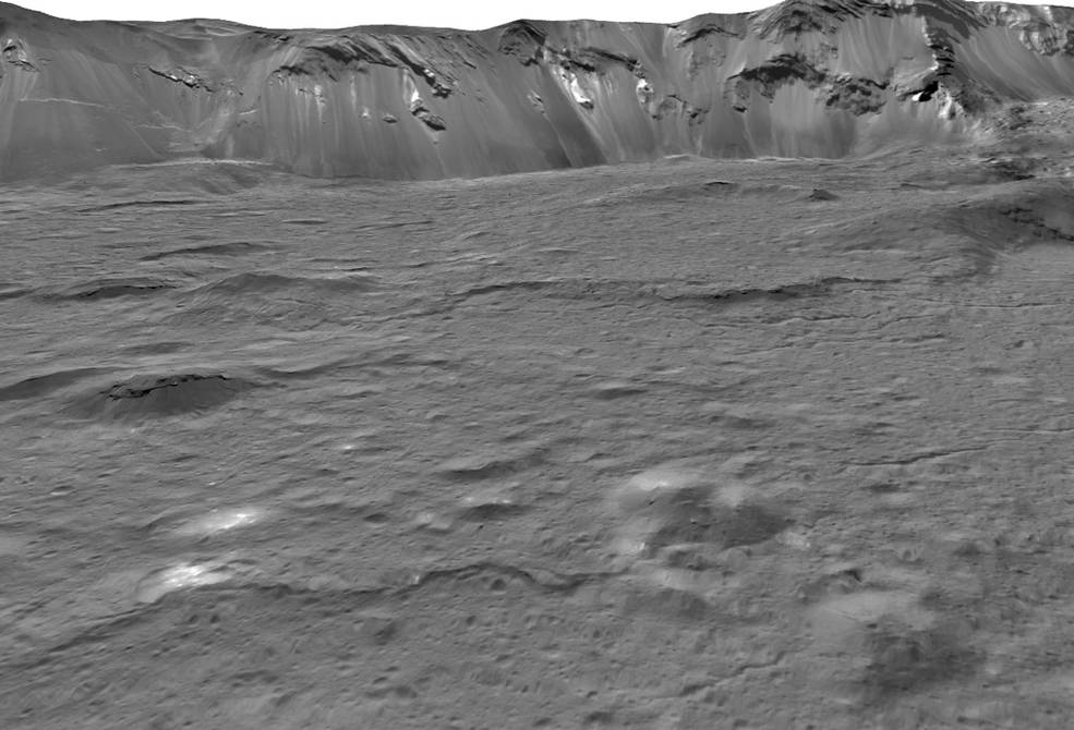 Bright spots on dwarf planet Ceres came from salty water deep inside