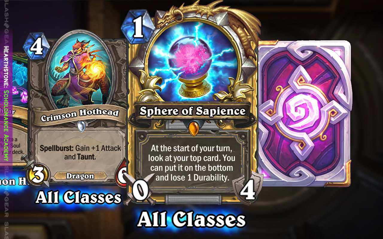 Hearthstone Scholomance Academy released with 2 free packs for card play