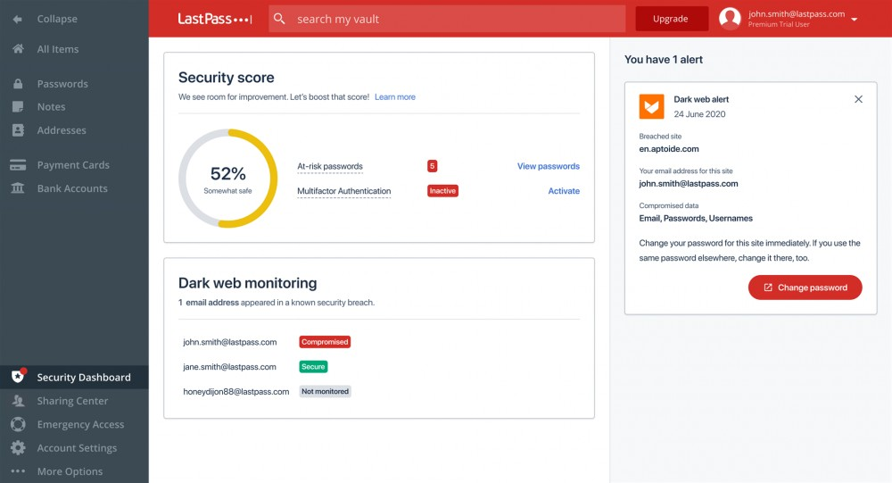 Read more about the article LastPass Launches a New Security Dashboard for All Users, Password Monitoring for Paid Subscribers – Review Geek