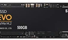 Samsung (MZ-V7E500BW) 970 EVO SSD 500GB – M.2 NVMe Interface Internal Solid State Drive with V-NAND Technology, Black/Red