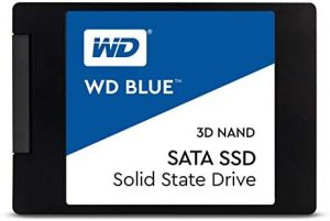 Western Digital 500GB WD Blue 3D NAND Internal PC SSD – SATA III 6 Gb/s, 2.5″/7mm, Up to 560 MB/s – WDS500G2B0A