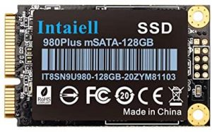 128GB mSATA SSD- 5030mm Mini SATA III 6Gb/s 3D NAND Flash Internal Solid State Drive for Gaming Computer, Notebook, Mini PC, Desktop PC (128GB)