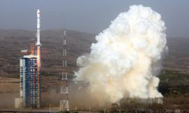 Another Chinese rocket falls near a school, creating toxic orange cloud