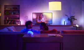 The Latest Philips Hue Lights Beam Color Onto Your Walls – Review Geek