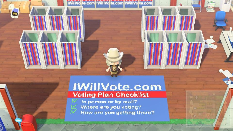 The official Biden HQ in Animal Crossing has poll booths, ice cream, and no malarkey