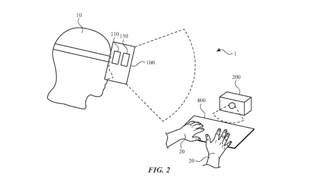 'Apple Glass' could use a virtual keyboard projected onto any surface