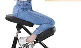 MaxKare Ergonomic Kneeling Chair Home Office Chairs with Height Adjustable for Corrective Posture Seat   Back & Neck Pain Relieving   Spine Tension Relief-Thicken Kneel Cushion 100% Recycled Foam