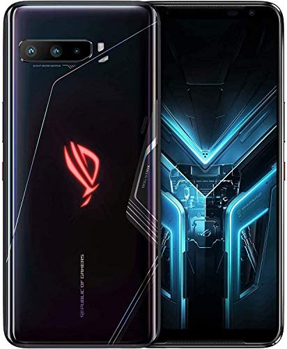 "ASUS ROG Gaming Phone 3-6.59"" FHD+ 2340×1080 HDR 144Hz Display – 6000mAh Battery – 64MP/13MP/5MP Triple Camera with 24MP Front Camera – 512GB Storage – 5G LTE Unlocked Dual SIM Cell Phone (16GB)"