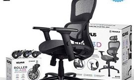 NOUHAUS Ergo3D Ergonomic Office Chair – Rolling Desk Chair with 3D Adjustable Armrest, 3D Lumbar Support and Extra Blade Wheels, Mesh Computer Chair, Gaming Chairs, Executive Swivel Chair (Black)