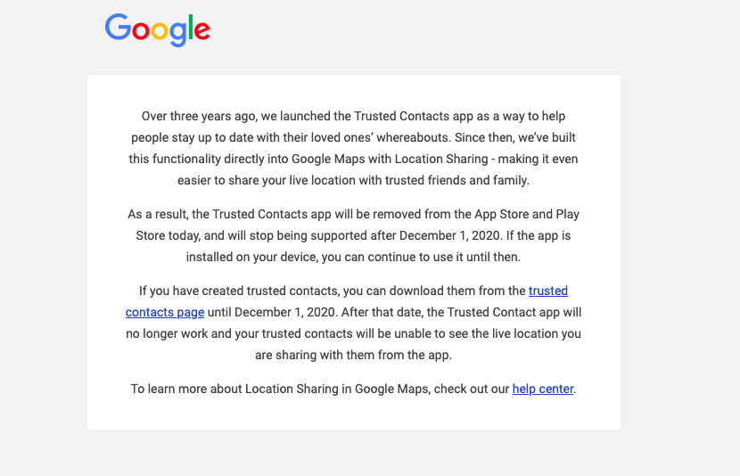 Google kills off app that let you find loved ones' location during an emergency