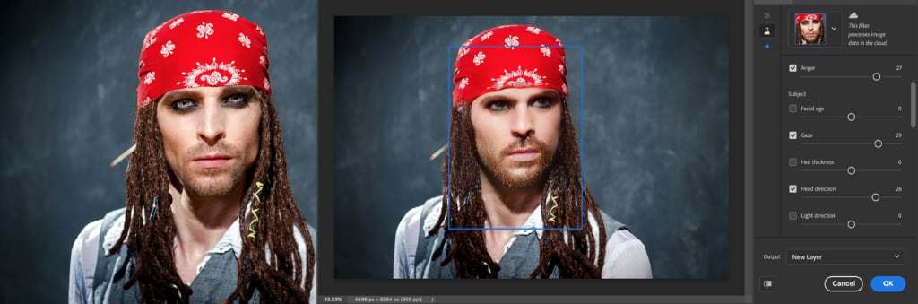 Adobe's Photoshop Neural Filters use AI to change faces, recolor photos
