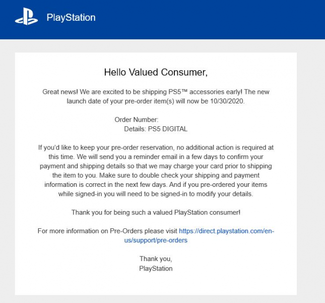 PS5 Accessories Are Shipping Early