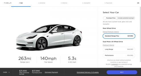 Tesla Model 3 'refresh' goes live with 353-mile range, Uberturbine wheels, powered trunk, and more