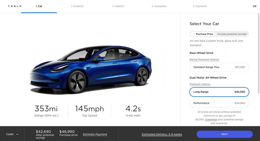 Tesla boosts Model 3 to whopping 353-mile EPA range for less than $47,000
