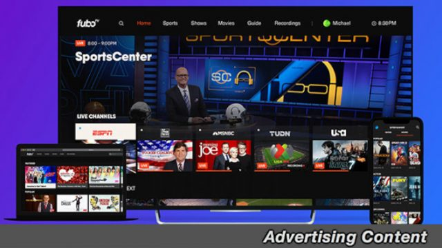 Save 46 Percent on a 1-Month Subscription To Fubo TV's Streaming Service for Live Sports & TV