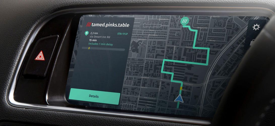 More cars could get What3words address tech with Here navigation deal