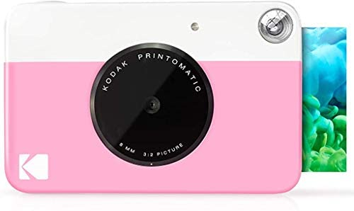 KODAK Printomatic Digital Instant Print Camera – Full Color Prints On ZINK 2×3″ Sticky-Backed Photo Paper (Pink) Print Memories Instantly