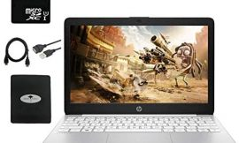 2020 Newest HP Stream 11.6″ HD Laptop for Business and Student, Intel Celeron N4000 (up to 2.6GHz), 4GB RAM, 64GB eMMC, Webcam, WiFi, Bluetooth, USB Type-A&C, HDMI, w/ 64GB SD Card,GM Accessories