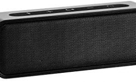 AmazonBasics 9-Watt Bluetooth Stereo Speaker with Water Resistant Design – Black